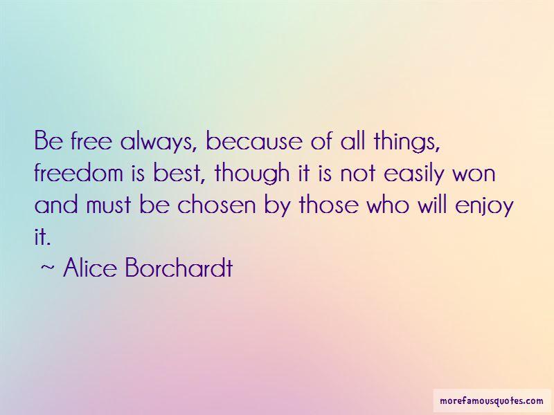 Alice Borchardt Quotes