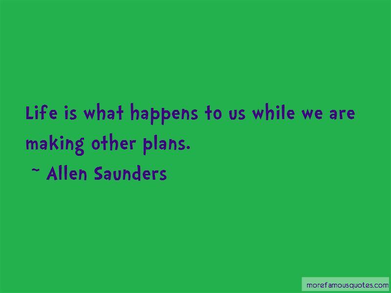 Allen Saunders Quotes