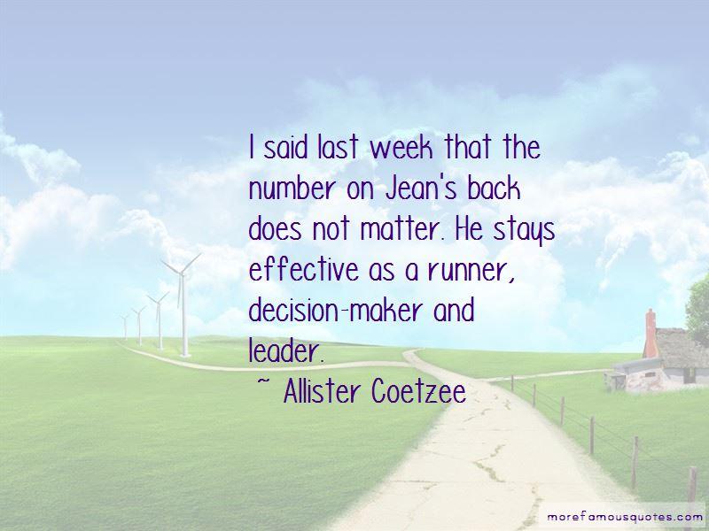 Allister Coetzee Quotes