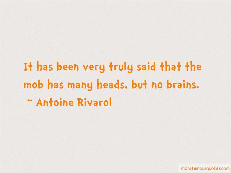 Antoine Rivarol Quotes
