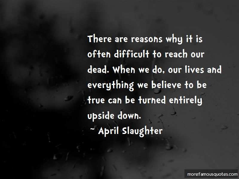 April Slaughter Quotes Pictures 2