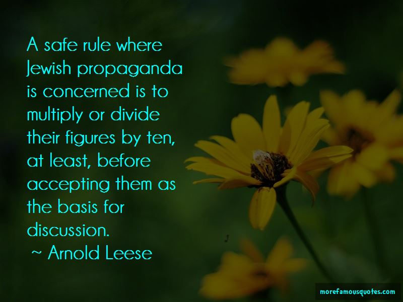 Arnold Leese Quotes