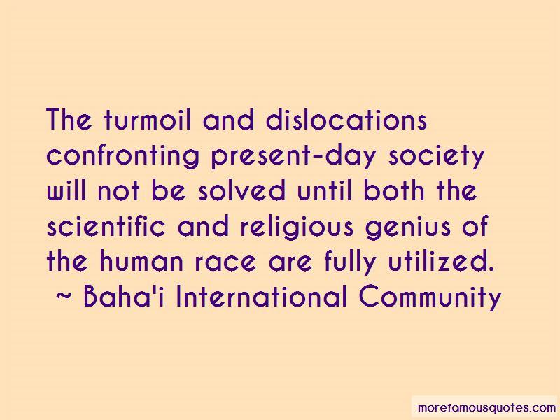 Baha'i International Community Quotes