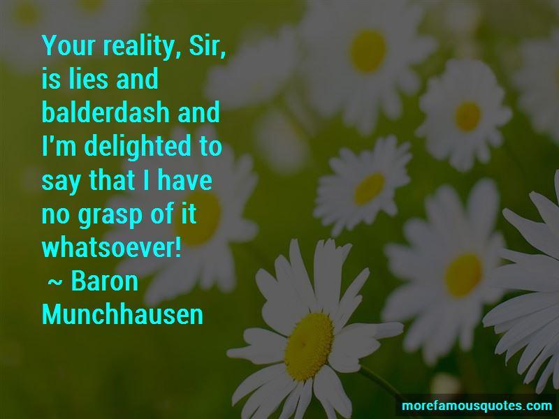 Baron Munchhausen Quotes