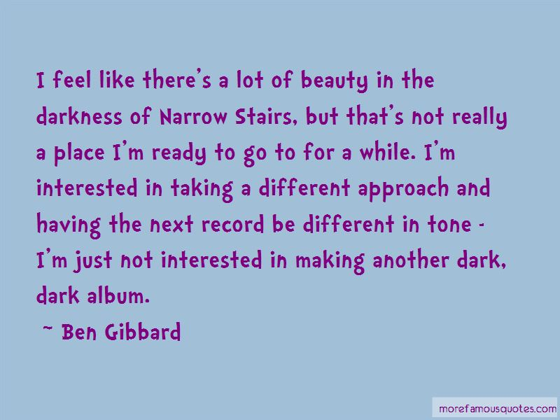 Ben Gibbard Quotes Pictures 4