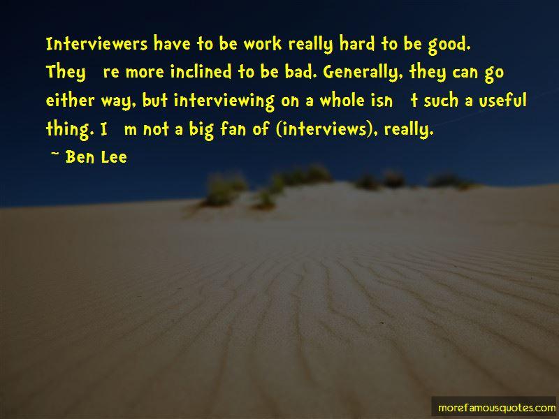 Ben Lee Quotes