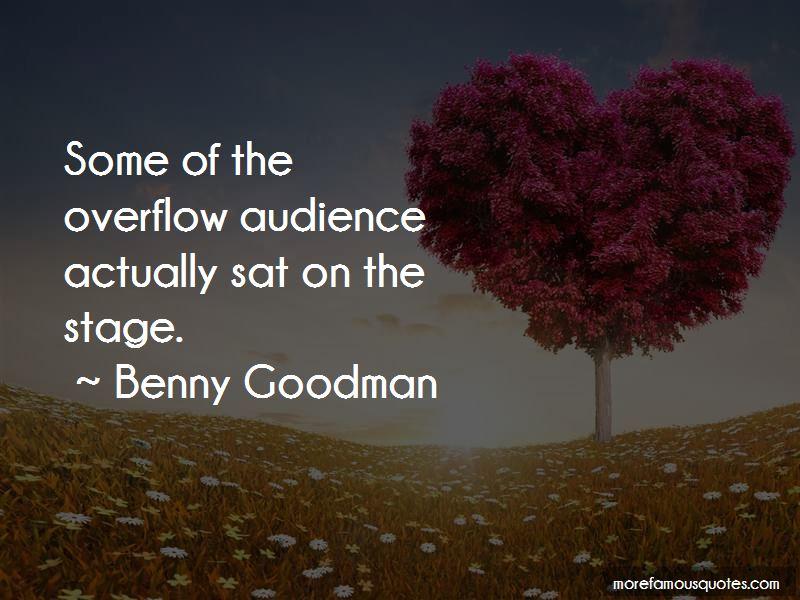 Benny Goodman Quotes