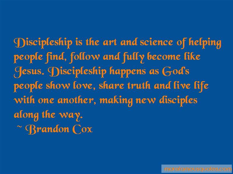 Brandon Cox Quotes