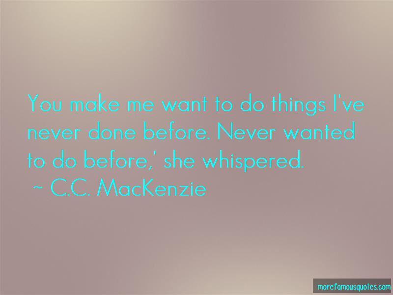 C.C. MacKenzie Quotes