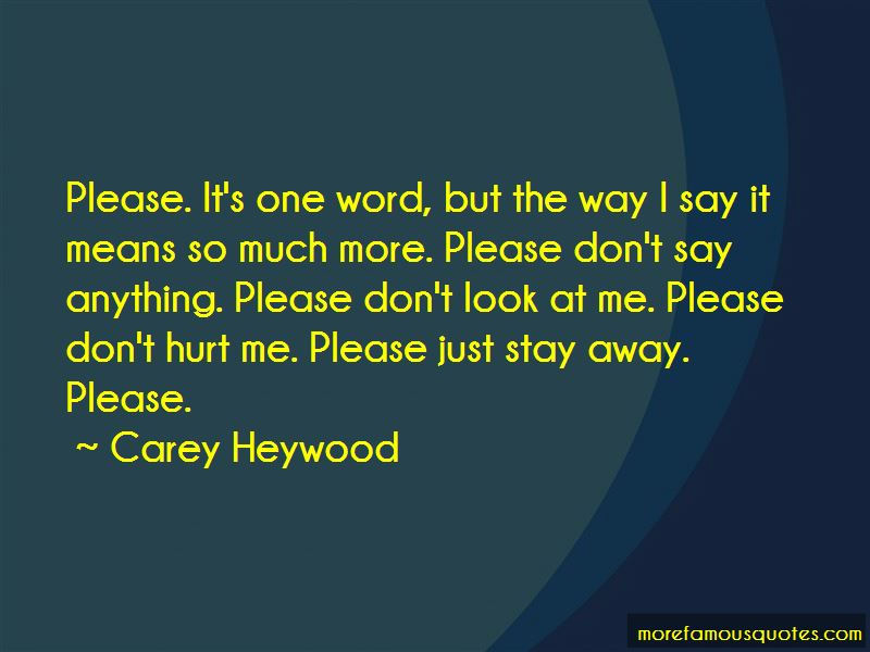 Carey Heywood Quotes
