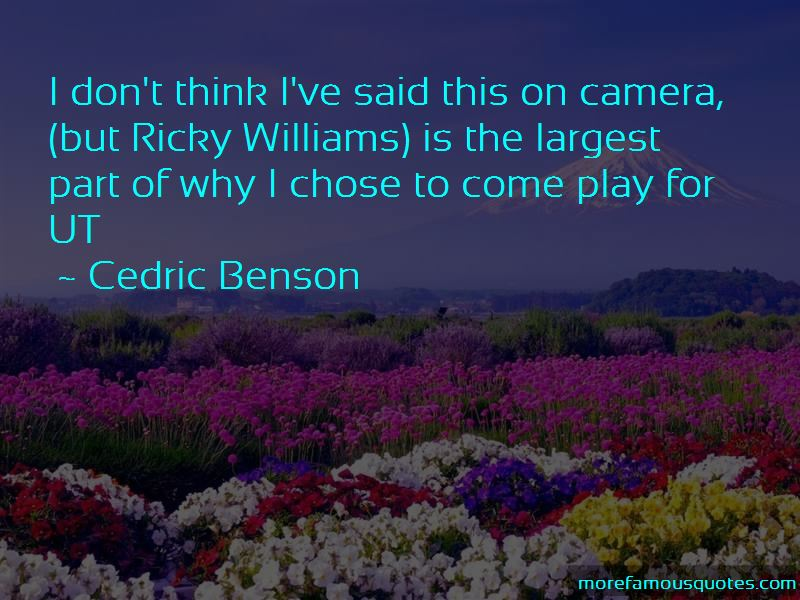 Cedric Benson Quotes