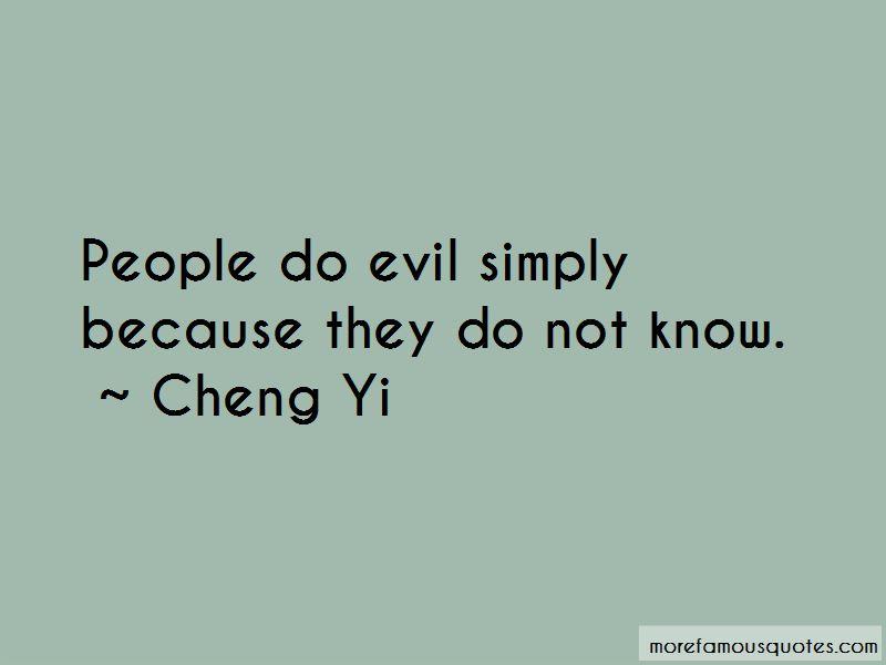 Cheng Yi Quotes