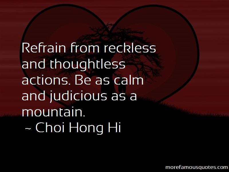 Choi Hong Hi Quotes