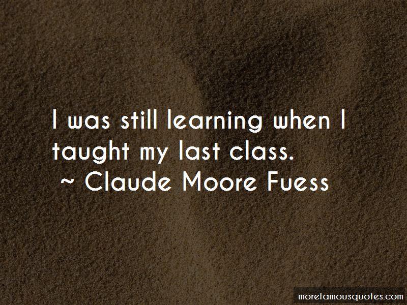 Claude Moore Fuess Quotes