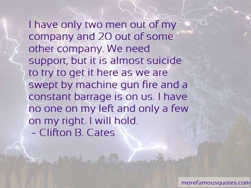 Clifton B. Cates Quotes