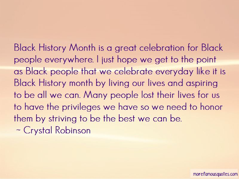 Crystal Robinson Quotes