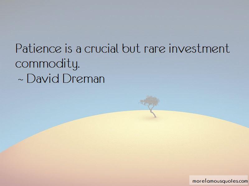 David Dreman Quotes