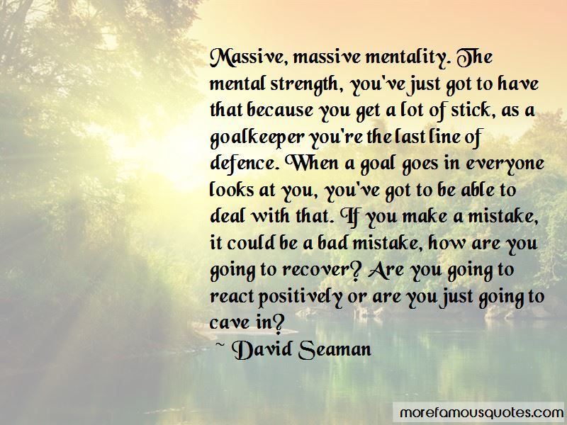 David Seaman Quotes