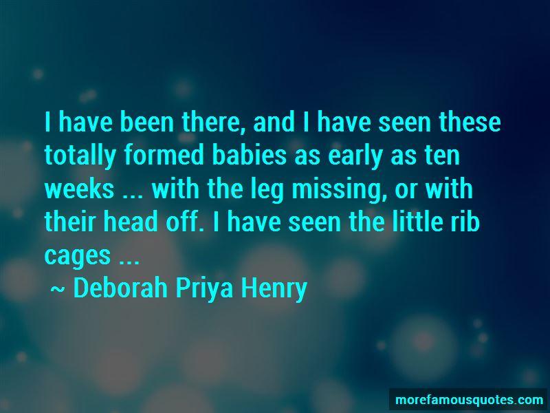 Deborah Priya Henry Quotes
