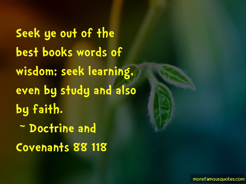 Doctrine And Covenants 88 118 Quotes