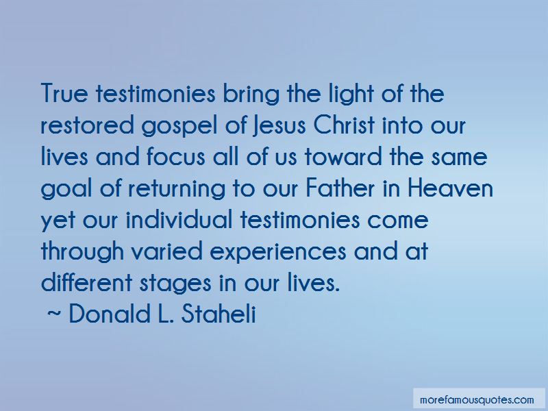 Donald L. Staheli Quotes Pictures 2
