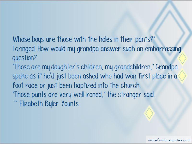 Elizabeth Byler Younts Quotes