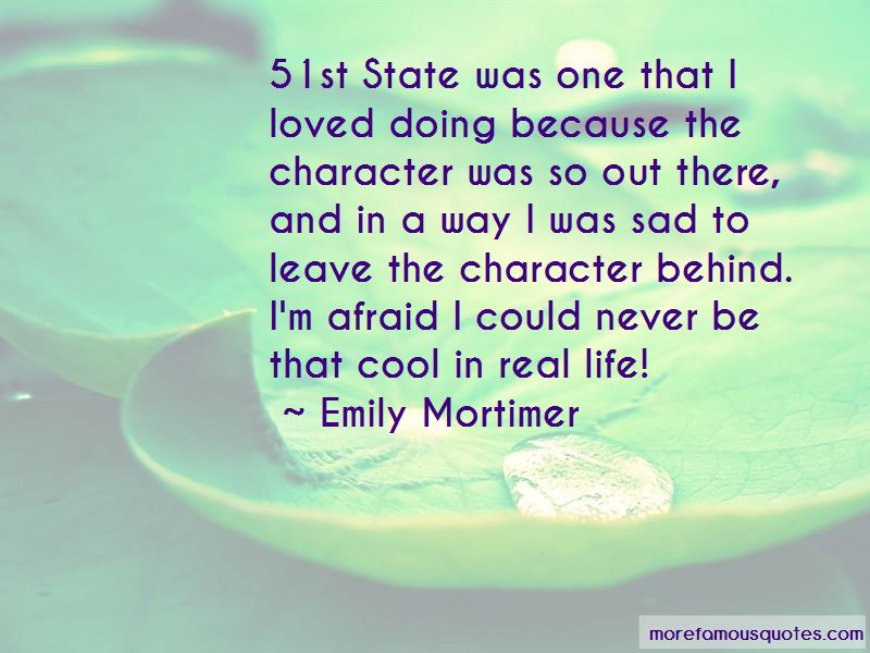 Emily Mortimer Quotes