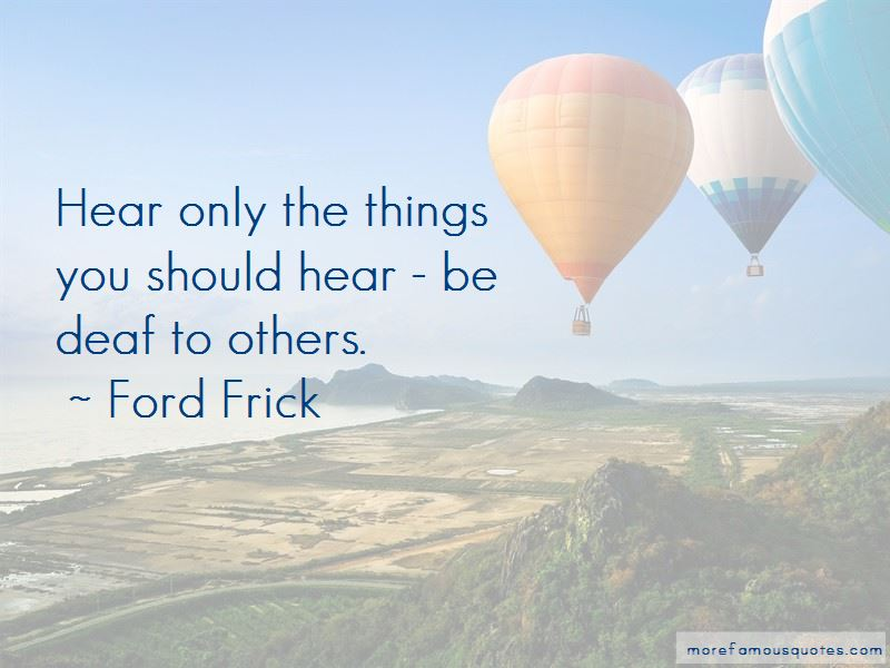 Ford Frick Quotes Pictures 4