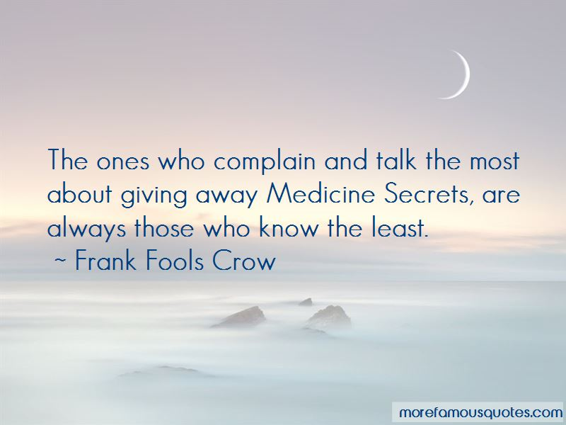 Frank Fools Crow Quotes Pictures 2