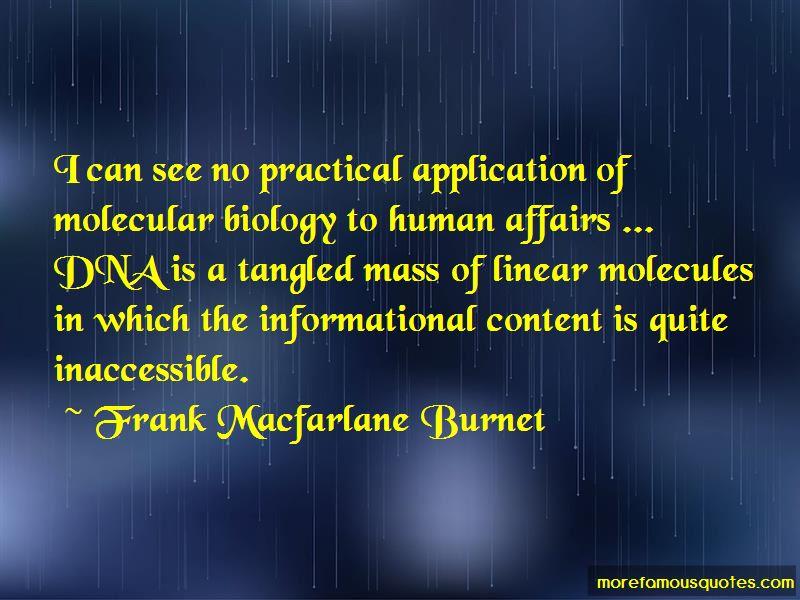Frank Macfarlane Burnet Quotes Pictures 2