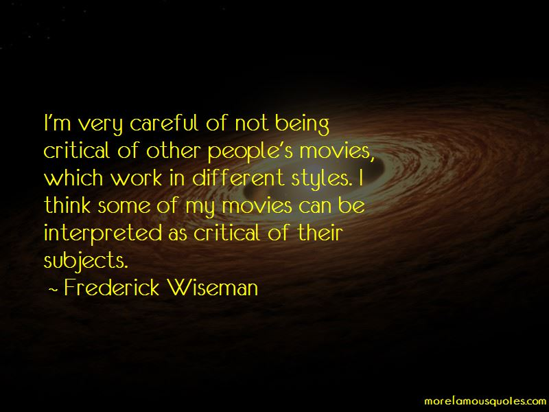 Frederick Wiseman Quotes Pictures 2