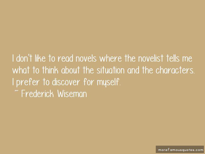 Frederick Wiseman Quotes