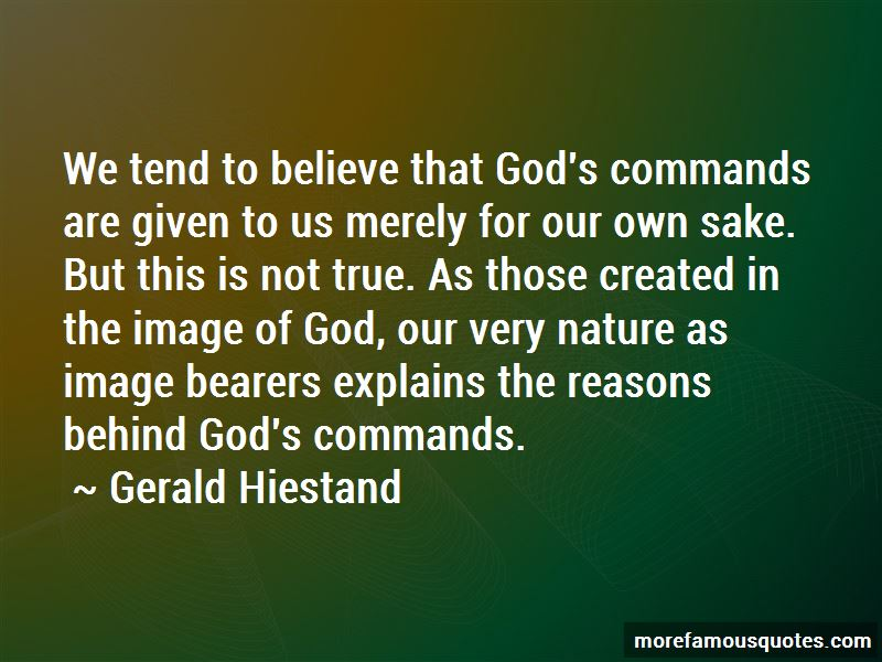 Gerald Hiestand Quotes