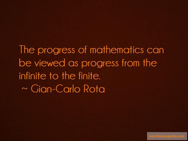 Gian-Carlo Rota Quotes Pictures 4