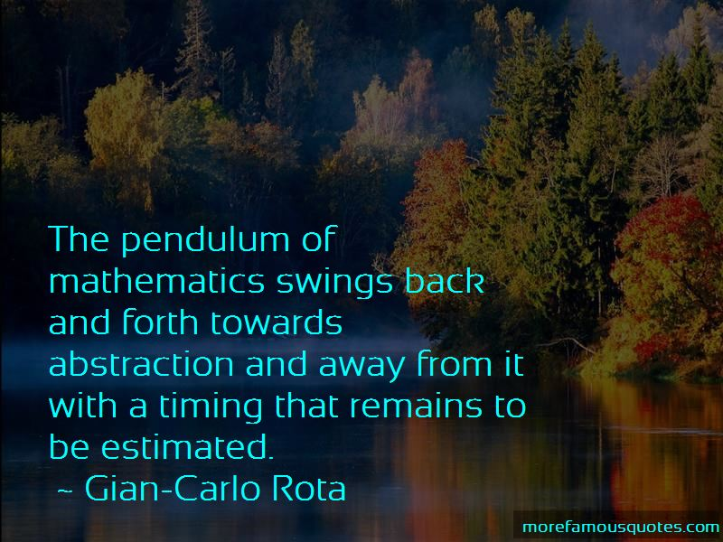Gian-Carlo Rota Quotes