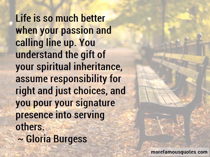 Gloria Burgess Quotes Pictures 3