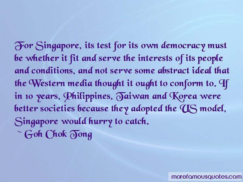 Goh Chok Tong Quotes