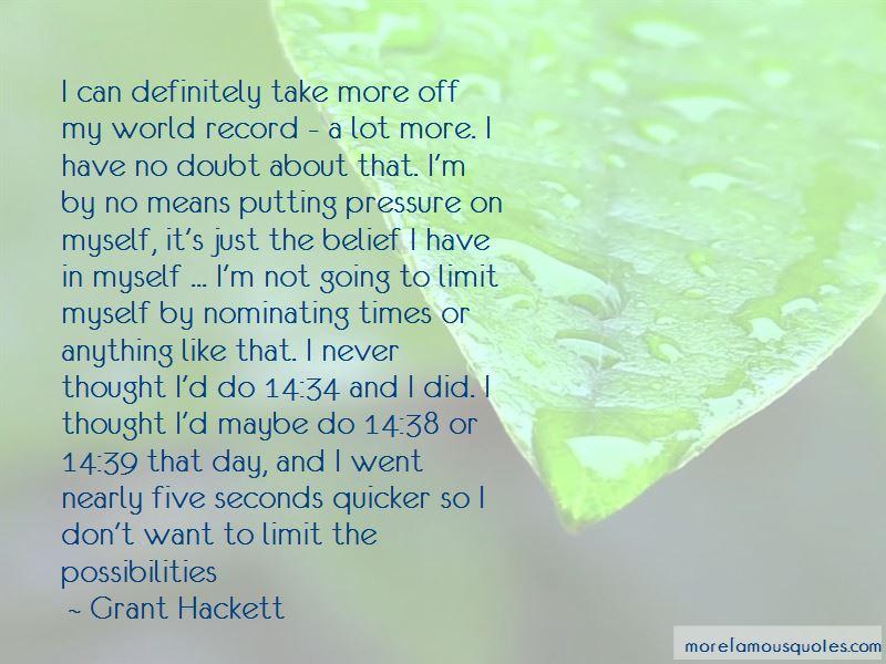 Grant Hackett Quotes