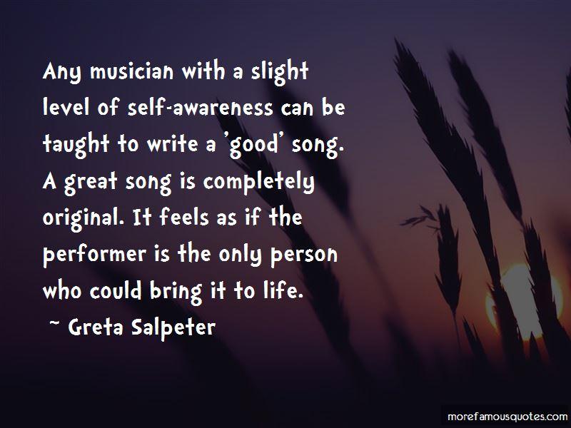 Greta Salpeter Quotes