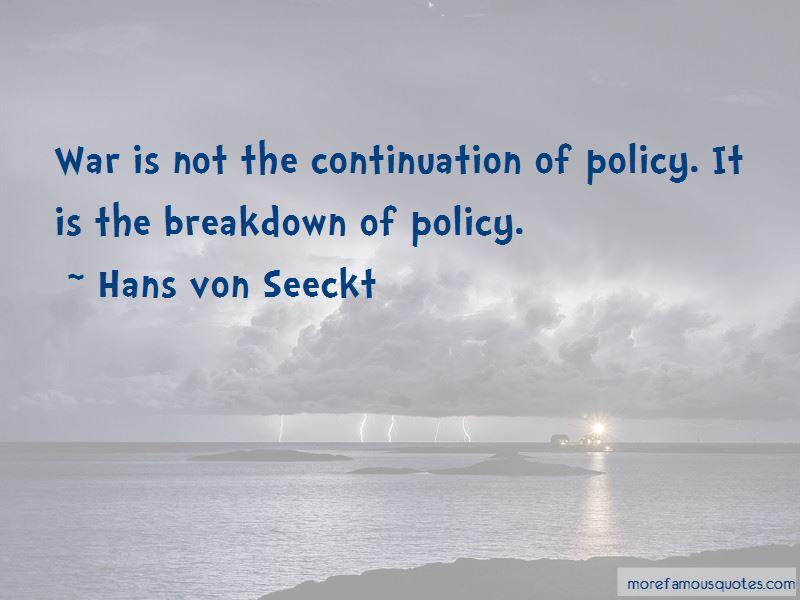 Hans Von Seeckt Quotes Pictures 3