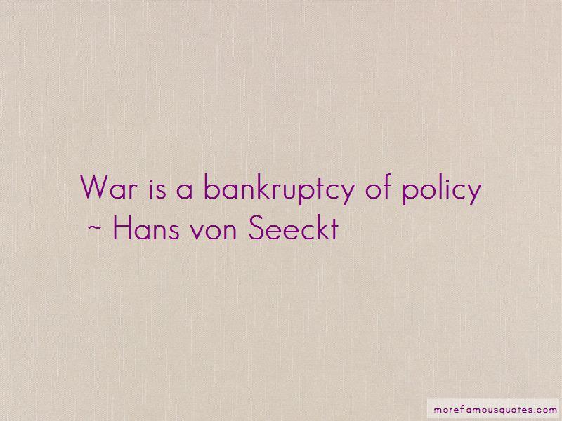 Hans Von Seeckt Quotes Pictures 4
