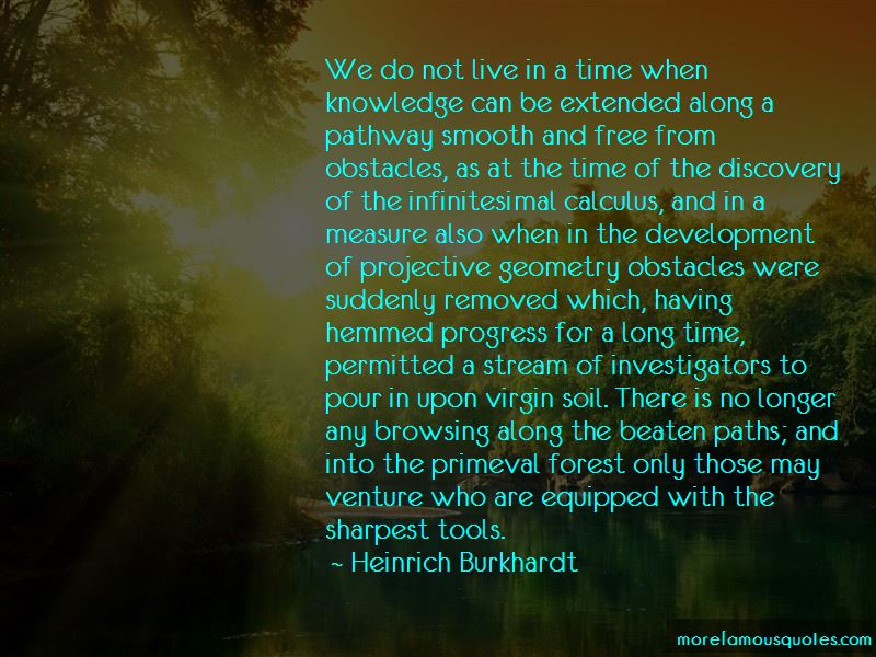 Heinrich Burkhardt Quotes