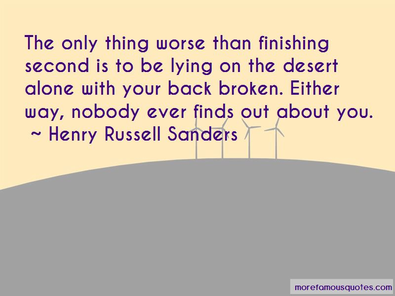 Henry Russell Sanders Quotes