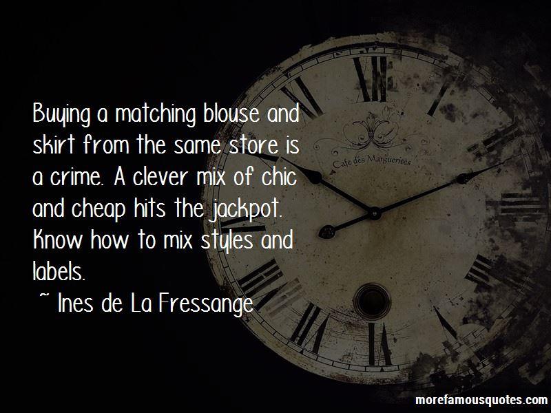 Ines De La Fressange Quotes Pictures 3