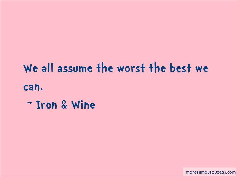 Iron & Wine Quotes Pictures 3