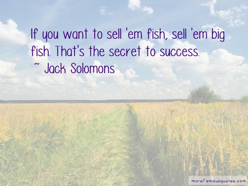 Jack Solomons Quotes