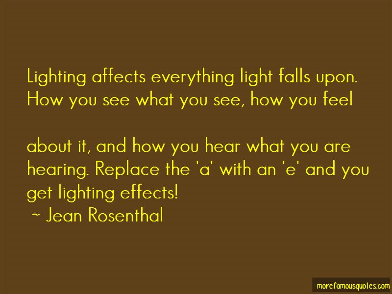 Jean Rosenthal Quotes