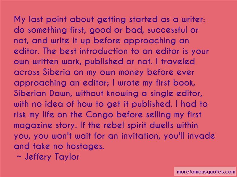 Jeffery Taylor Quotes