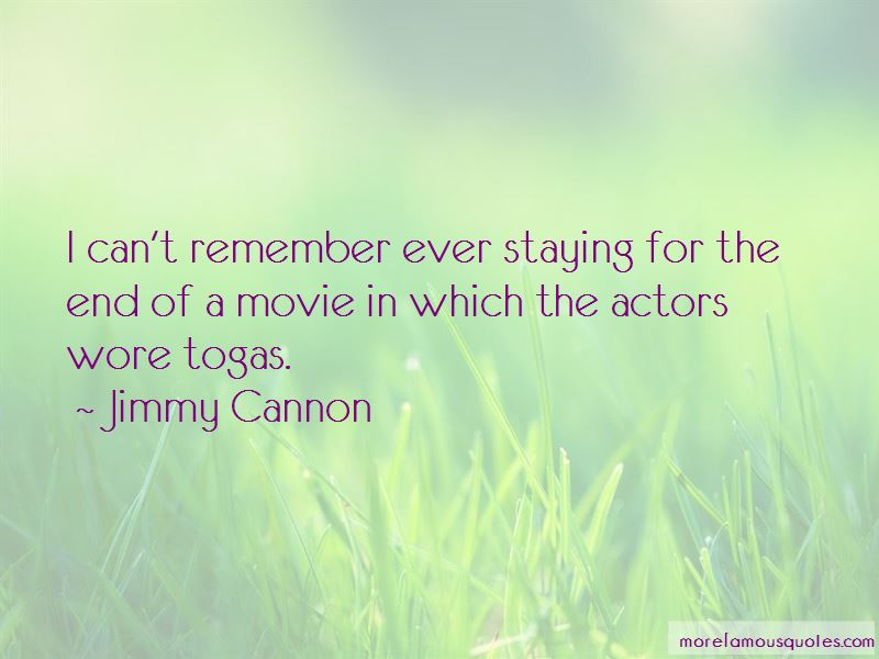 Jimmy Cannon Quotes