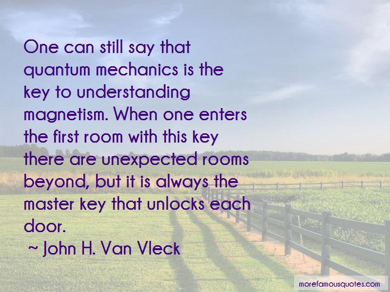 John H. Van Vleck Quotes